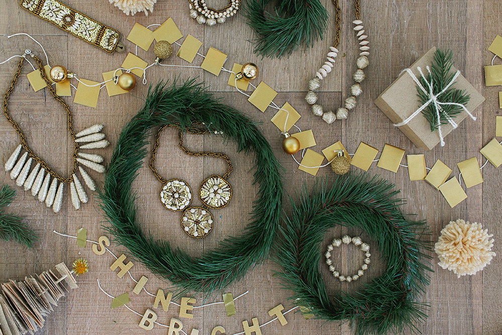 DIY Christmas Wreath Collage